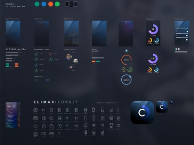 Climax ui kit work in progress  uikit ui kit iphone app iphone ipad windows phone android web
