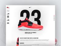 Nike air jordan 30 min challenge corail red website app ux design ui challenge shoes nike