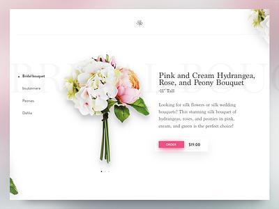 Flowers colors minimal buy store shop flowers design ux ui