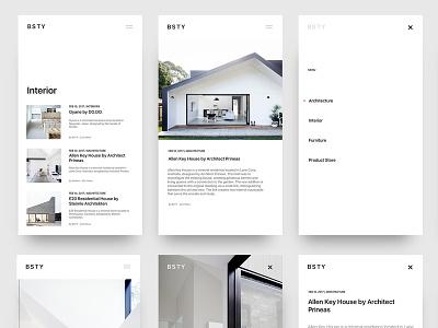 Blog Minimal interior design picture search profile architecture blog white minimal ux ui design app