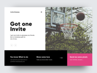 One Dribbble invite to giveaway