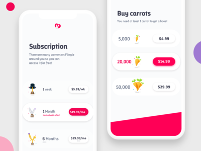 Pickable Pricing Page 🐰