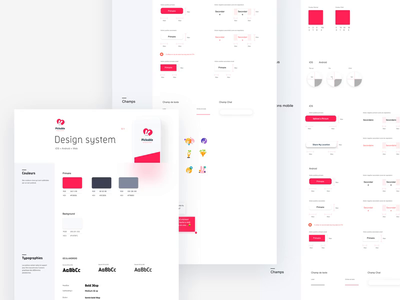 Pickable Design System animation logo vector illustration ios white iphone website minimal app design ux ui