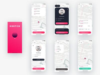 Heetch redesign flat typography logo vector illustration ios white iphone minimal app design ux ui