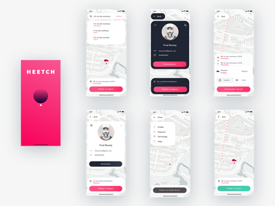Heetch redesign flat typography logo vector illustration ios white iphone minimal app design ux ui