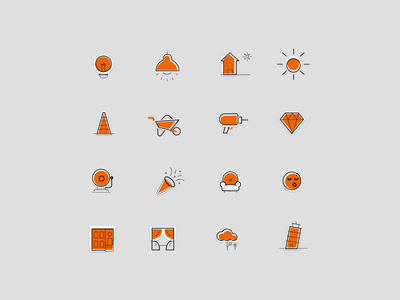 Real Estate Icon Set illustration iconset set icon white website design ux ui