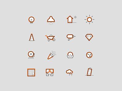 Real Estate Icon Set illustration iconset set icon white website design ux ui
