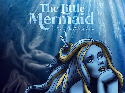 The Little Mermaid Book Illustration mermaid illustration art wacom art mixed media book illustration illustration