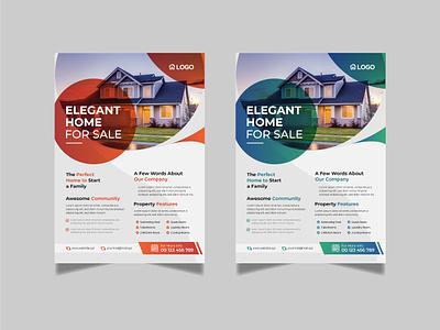 Real Estate Flyer loan lease leaflet house home flyer commercial broker agent agency advertising