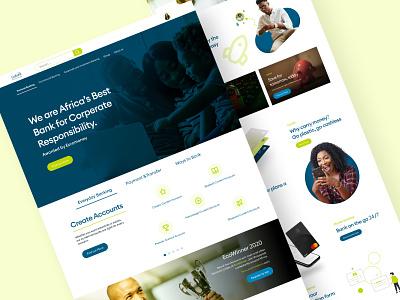 Eco Bank Nigeria Redesign banking website banking app fintech