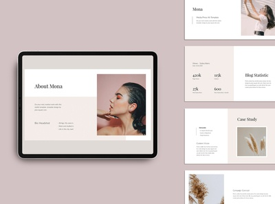 MONA - Media Kit Keynote Template