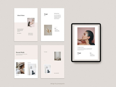MONA - Keynote Media Kit Template catalog vertical a4 size ebook mockups icons layout marketing fashion media kit inspiration powerpoint keynote ui presentation template minimal branding design