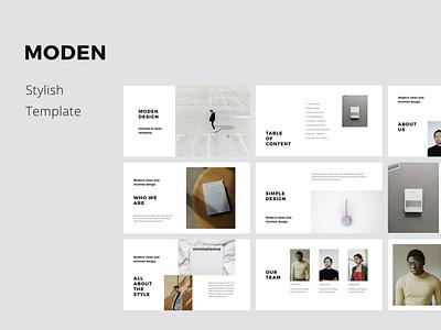 MODEN - Style Keynote Template minimalist slides icon powerpoint keynote presentation template minimal inspiration ui design branding