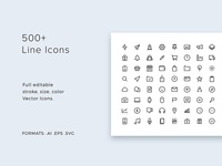 Line Icons Pack - modern & simple