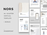 NORS - Vertical A4 + US Letter Powerpoint + Bonus
