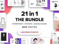 The Bundle -  21 Templates + 60 Free Photos