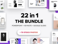 The Bundle -  22 Templates + 70 Free Photos