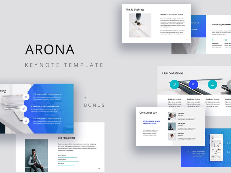 arona creative presentation template by pixasquare dribbble