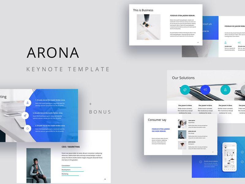 arona creative presentation template by pixasquare dribbble