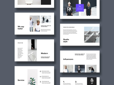 Modern Powerpoint Template Designs Themes Templates And Downloadable Graphic Elements On Dribbble
