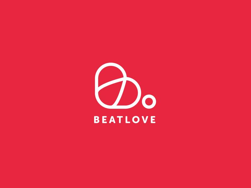 Beat Love Logo Design concept simple logotype clean modern b letter letter minimal ux app vector design ui inspiration branding icon heart love mark logo