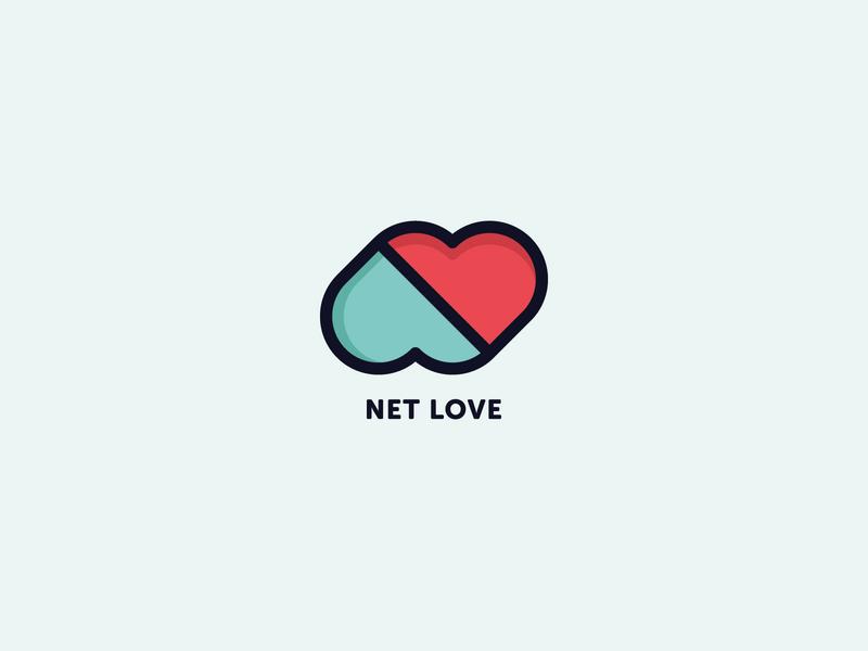 Net Love Logo modern ux pixasquare brand vector icon alphabet n letter letter heart app minimal inspiration mark ui design branding logo