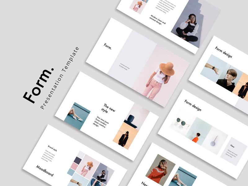 FORM - Stylish Template Design portfolio brand catalog brochure fashion powerpoint slides inspiration ui keynote minimal branding pitchdeck presentation template stylish ebook lookbook design layout