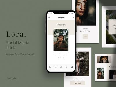 LORA - Social Media Pack