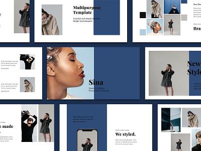 SINA - Stylish Template Design guidebook ui lookbook ebook lifestyle modern simple presentation keynote presentation keynote template template keynote design minimal branding