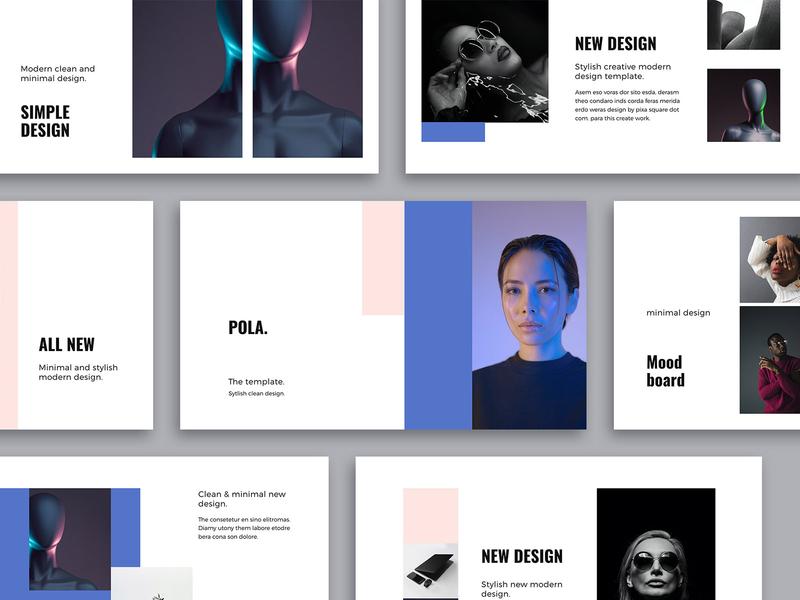POLA - Design Template pixasquare simple vector icons stylish guideline startup brandbook deck pitch slides keynote presentation template minimal inspiration mark ui design branding