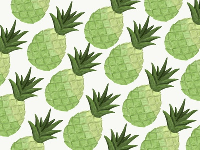 A pineapple pattern minimal illustration design