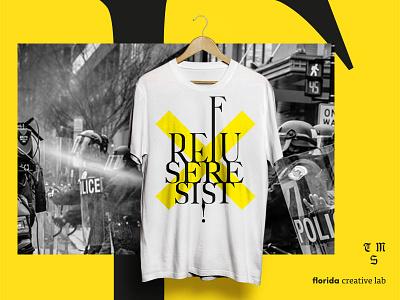 TMS –refuse resist floridacreativelab fonts music graphicdesign shirt heavymetal metal rebellion type serif typography sepultura