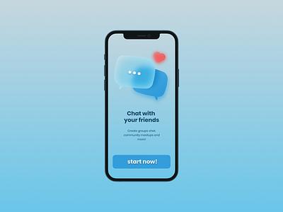Chat App UI design nepali chat app website design ui