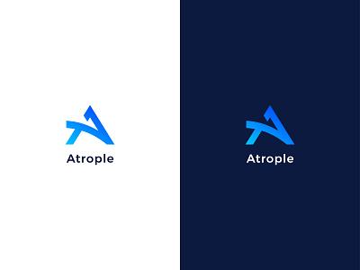 atrople logo design modern logo unique logo branding creative logo logotype logo mark a logo design logo a letter mark a letter logo