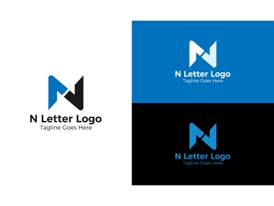Letter N monogram  Logo Design. design unique logo logodesign letter mark logo monogram blue logo website company minimal creative 2021 letter abc color logo modern logo n letter n n logo letter n monogram logo