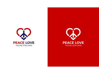 Peace Love Logo Design xyz 2021 abc brand company peace sign red love peace peace love logo logo illustration design logo mark creative logo unique logo modern logo branding logotype logodesign