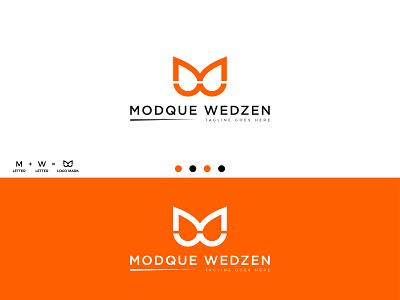 Letter WM Monogram Logo Design. unique logo illustration branding monogram logo orange colorful wyz 2021 letter mark logo minimal minimalist modern logo abc creative job design logo m w wm logo design