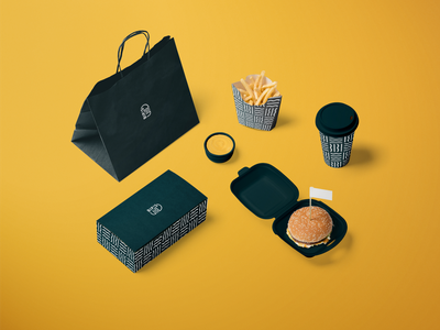 Bip's Burger Joint Branding & Packaging typography minimal logo branding burger