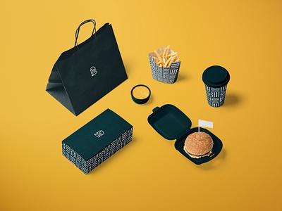 Bip's Burger Joint Branding & Packaging typography minimal logo branding burger