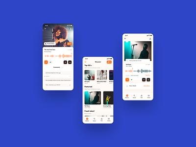 SoundCloud App Redesign player music mobile ui ui app