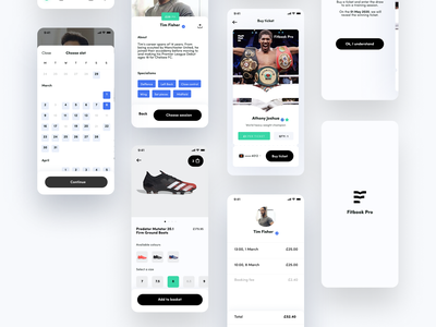 Sports Coach Booking UI branding sports design ux native mobile app ecommerce shop professional social calendar appointment booking coach sports