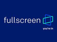 Fullscreen Logo+Tagline
