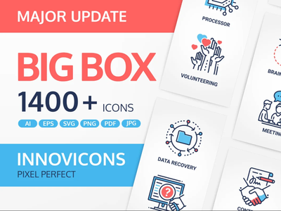 Innovicons Color Icons Full Bundle backupgraphic marketing calculator insurance location statistics contract bank investments money payments