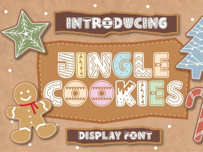 Jingle Cookies backupgraphic print bold display flyer poster cut crafter craft party decoration winter holiday greeting season font sugar christmas cookies jingle
