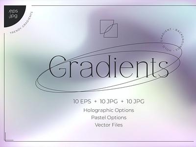 Holo Gradient Backgrounds backupgraphic fashion holochrome eps illustrator unicorn backgrounds background mesh gradients gradient shiny vivid foil holographic holo