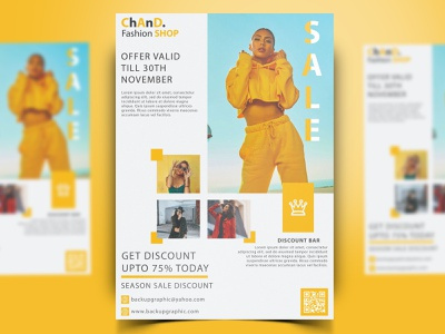 Fashion Sale Flyer Template Design Download posters poster design posterdesign flyers poster poster art flyer template flyerdesign flyer flyer design templatepsd psdtemplate chand backupgraphic
