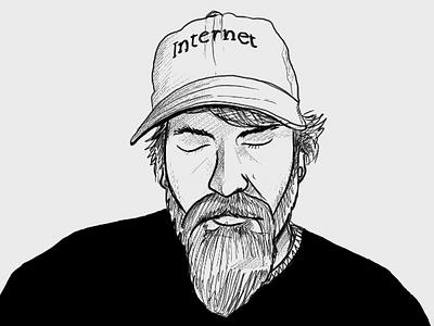headshot sketch illustration