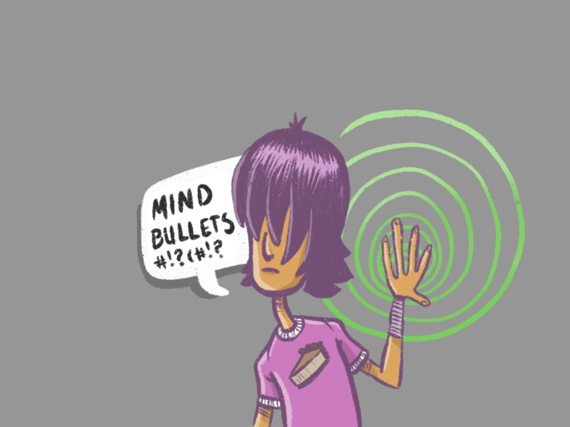 that's telekinesis, Kyle! procreate digital art practice illustration