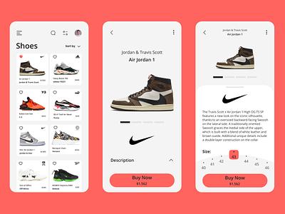 Shoes App nike app nike shoes store shoes app shoes mobile ui mobile app mobile app ui design