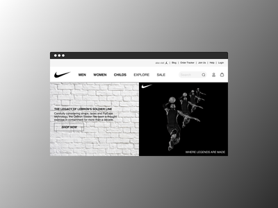 Nike Shop webui web webdesign nike mobile ui mobile app mobile app ui design branding graphic design
